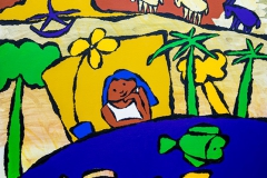 GIRL DREAM, ACRYLIC ON CANVAS, 83X88 cm, 2017.